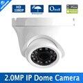 """1080 P Mini Câmera Dome IP 2MP H.264 1/2. 7 """"CMOS 3.6mm Fixa Lens 24 Pcs Leds de Visão Noturna IR 20 m Ao Ar Livre Onvif, P2P Metal Habitação"""