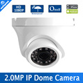 "1080P Mini Dome 2MP IP Camera H.264 1/2.7"" CMOS 3.6mm Fixed Lens 24Pcs Leds Night Vision IR 20m Outdoor Onvif,P2P Metal Housing"