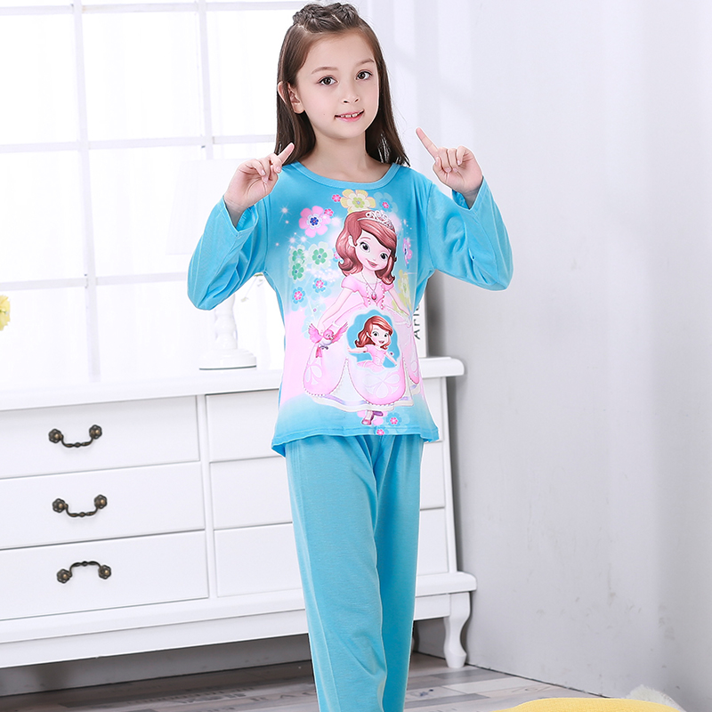 New Listing 2018 Autumn Winter Baby Sleepwear Suit Gilr Cute Hot Pajamas Children Pyjamas Girls Cartoon Lounge Kids Clothing Set