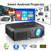 CAIWEI Smart Android WiFi Home Cinema Porjector Bluetooth Mobile Beamer Full HD Video HDMI