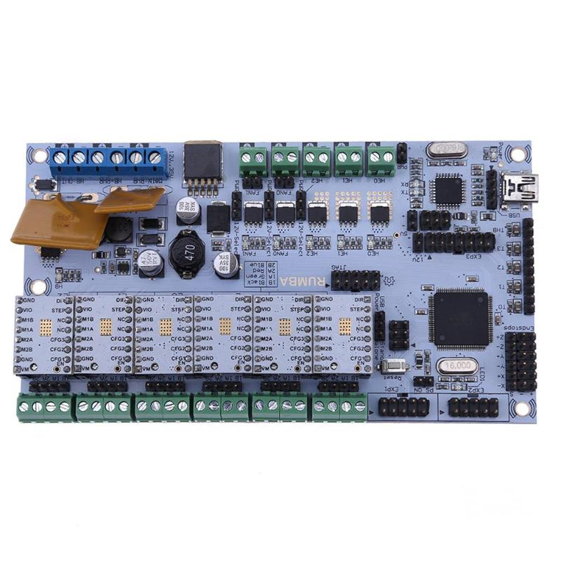 3D Printer Start Mother Controller Board Rumba Board tmc2100 Stepper Motor Driver with 6Pcs Heatsink 3DPrinter Parts Accessories3D Printer Start Mother Controller Board Rumba Board tmc2100 Stepper Motor Driver with 6Pcs Heatsink 3DPrinter Parts Accessories