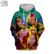 Nicki Minaj Soft Warm singer 3d Hoodies Print Women/Men casual Cool Long Sleeve Sweatshirts Hooded Fashion unisex Clothes