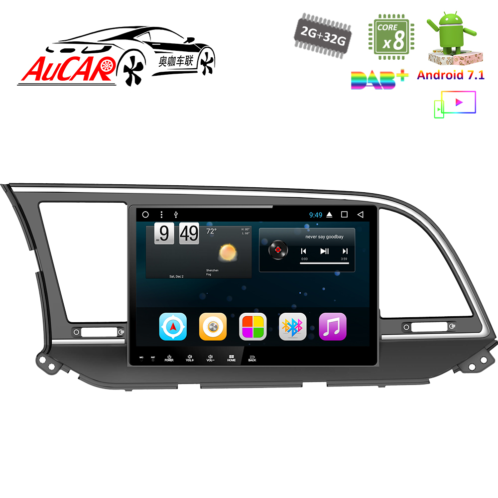 Android 7 1 10 Gps Navigation System Car Dvd Player For Hyundai Elantra 2016 2017 Audio Bluetooth Radio Wifi Stereo In Multimedia From