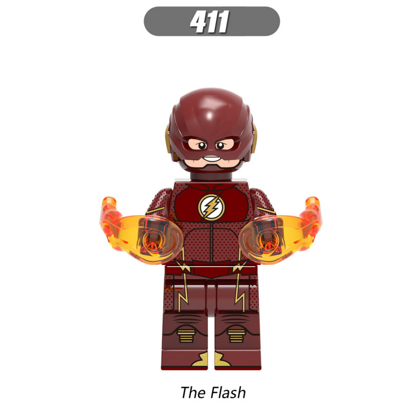 Single Sale Super Heroes Star Wars 411 The Flash Model Mini Building Blocks Figure Brick Toy Kids Gift Compatible Legoed Ninjaed