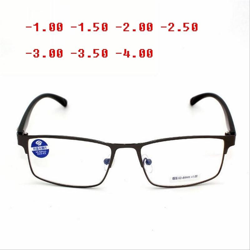 -1-1,5-2-2,5-3-3,5-4 Zu-6.0new Fertig Myopie Gläser Für Frauen Und Männer Kupfer Rahmen Ultraleicht Studenten Myopie Gläser