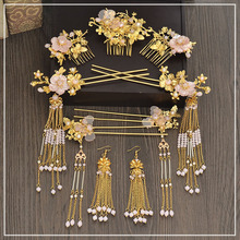 Retro bride headdress wedding show Wo clothing Fengguan hair ornaments Longfeng gown dress accessories costume headdress