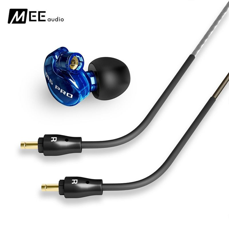 DHL Free shipping Blue MEE audio M6 PRO Universal-Fit Noise-Isolating Music In-Ear Monitors headset with Detachable Cables Wired dhl free 2pcs black white m6 pro universal 3 5mm wired in ear earphone noise isolating musician monitors brand new headphones