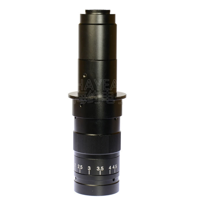 Zoom 180X Industrial Microscope C-Mount Digital Camera Objective Lens 0.5X Adapter Working Distance 55-210mm 300x zoom c mount lens industrial video microscope monocular 0 7x 4 5x digital lens used for mobile phone repair diagnostic tool
