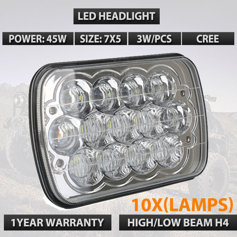10pcs/lots Free shipping 2016 New 7X6 7x5 5x7 6x7 High Low beam with H4 Sealed Beam Headlamp Fit for Savana Safari Cherokee
