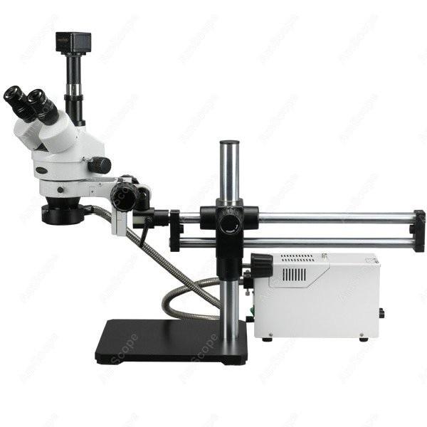 Trinoculare Stereo Microscopio-AmScope Forniture 3.5X-180X In Fibra Ottica Cuscinetto A Sfere Trinoculare Stereo Microscopio con 5MP Macchina Fotografica