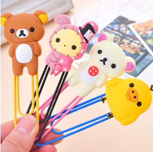 Free Shipping Kawaii Rilakkuma Series Bookmark Clip/Memo Clip/Paper Clip/Bookmark,Novelty Gift Retail KCS
