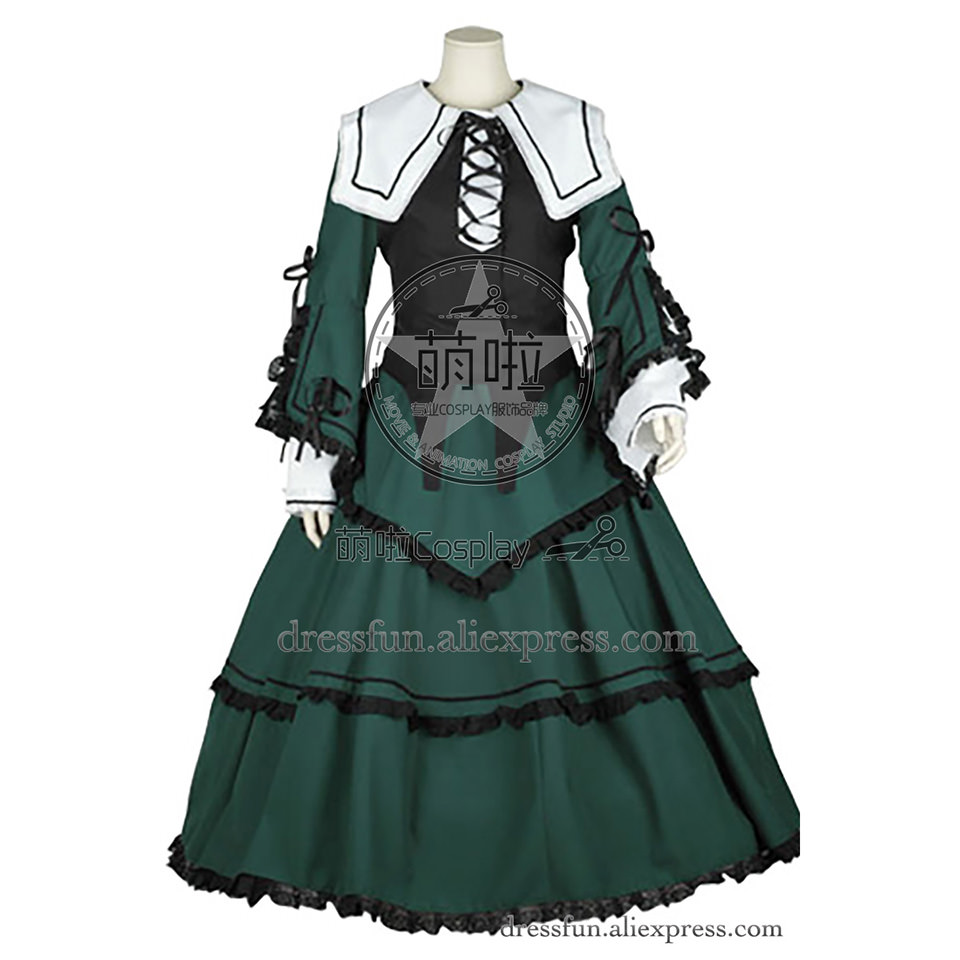 Rozen Maiden Cosplay Jade Stern Costume Lolita Dress Uniform Suit Outfits Halloween Fashion Party Fast Shipping In Stock