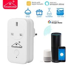 Timethinker WS2 WiFi умная розетка 2 шт. Разъем Питания AU US EU UK адаптер работает для Apple Homekit Siri ALexa Google Home APP