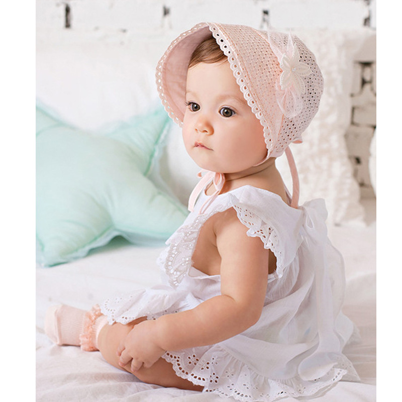 Fashion Baby Beanie Princess Chapeau Fille Enfant Lovely Girls Cap Infant Baby Girl Hats Beach Baby Bucket Hat