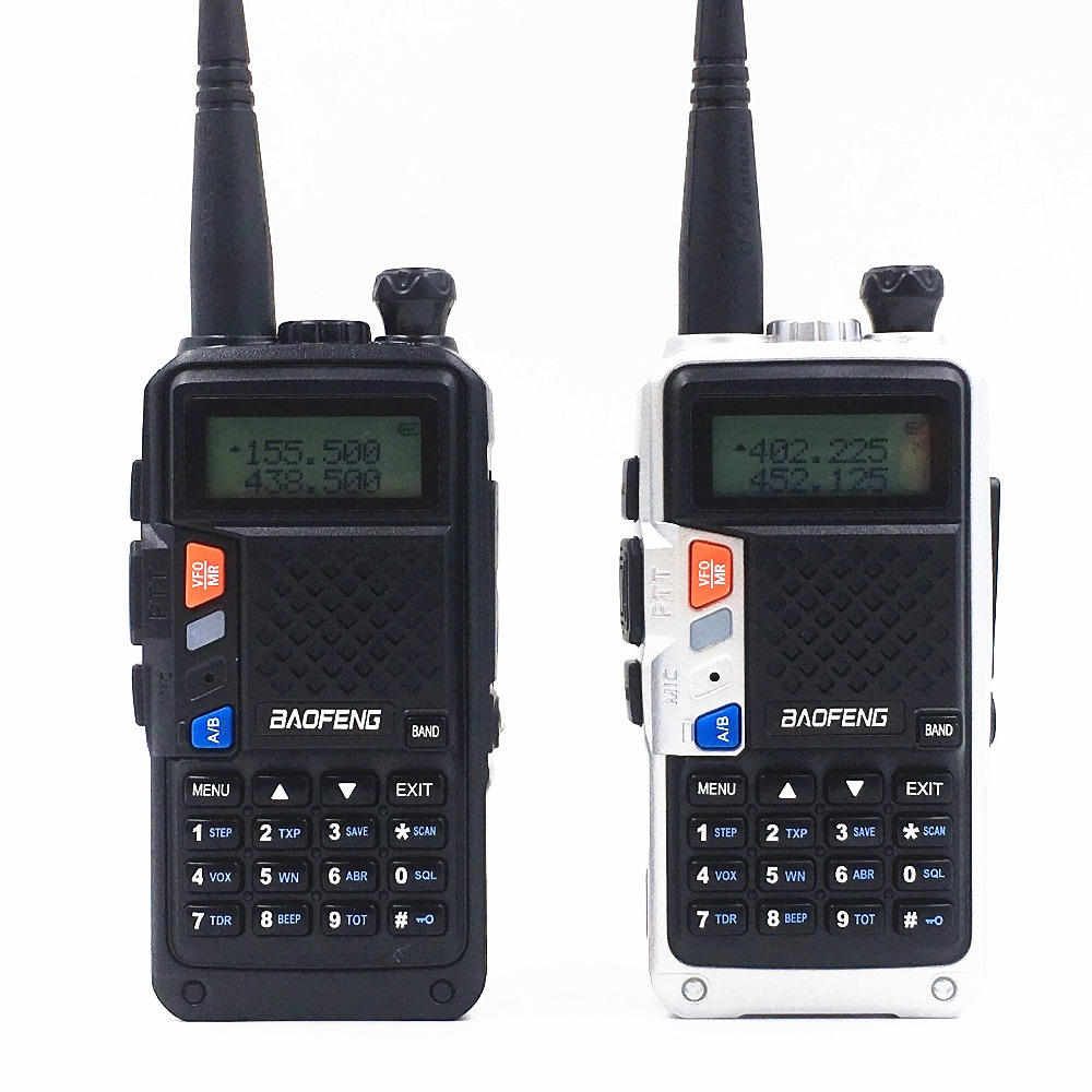 2 Pack/lot baofeng 8 W UVB3 Plus cb radio handy 10 km mobile talkie walkie double bande 136-174/400 -520 mhz 3600 batterie mah 128ch LCD