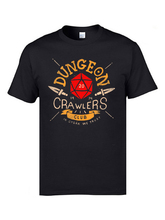 Dungeon Crawlers Club Vintage Tshirts Mens DND And Dragon Game T-Shirts Youth Cool Tee Shirt Homme Fashion