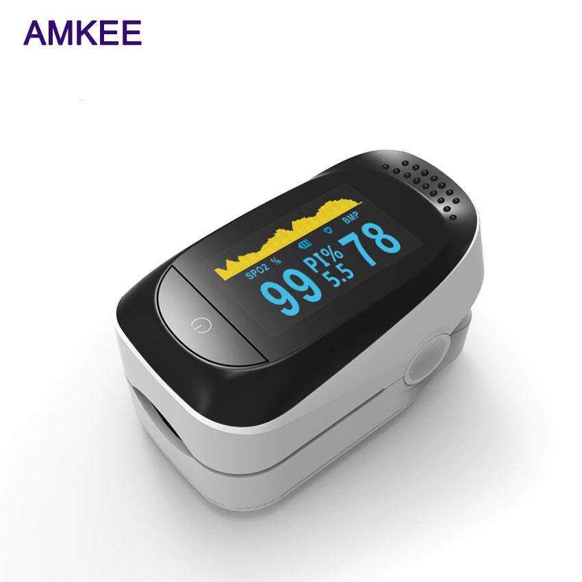AMKEE New Update Digital Finger Pulse Oximeter Blood Oxygen Finger SPO2 PR PI Alarm Oximetro Health Care 8 Hour Sleep Monitor new finger pulse oximeter accurate oximetro for medical equipment and daily sports fitness pulse rate alarm meter pr spo2 ce