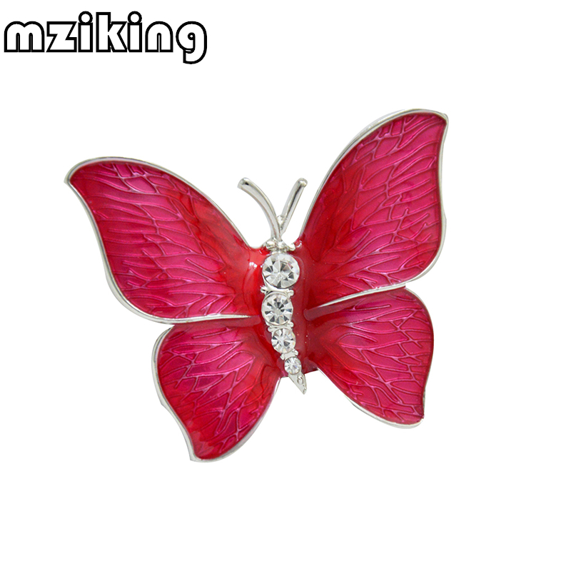 MZC 2018 Fashion Colorful Butterfly Brooch Wedding Crystal Rhinestone - მოდის სამკაულები - ფოტო 6