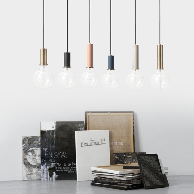 Nordic simple bar hanging lamp colored Pendant Light restaurant, bedroom, bedside lights, modern art and creative lighting 2