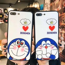 Cartoon Doraemon Tempered Glass Case Tempered Glass Screen Film For iPhone XS XR XS MAX Case