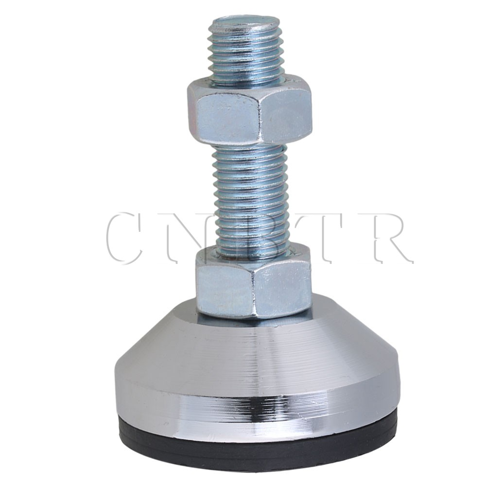 CNBTR 60mm Dia Carbon Steel Adjustable Anti-Slip Screw Table Feet M16 Thread ...