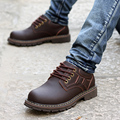 Fashion Classic Men Big Head Leather Shoe Men Genuine Leather Tooling Shoes Round Toe Low-top British Shoes High Quality