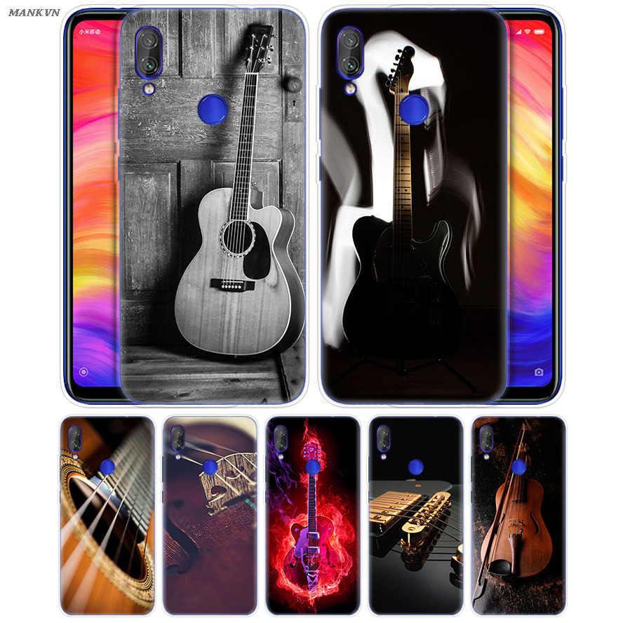 Instrumenty muzyczne w stylu Vintage miękki futerał do czerwony mi 7 6 6A S2 iść uwaga 7 6 5 4 4X Xiao mi mi 9 8 A2 A1 mi x 3 5G Play Poco F1 Lite Pro
