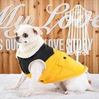Бесплатная доставка, новая мода Pet зимняя одежда плюс флис теплый пальто собаки жилет Чихуахуа Тедди Куртки размеры S-2XL