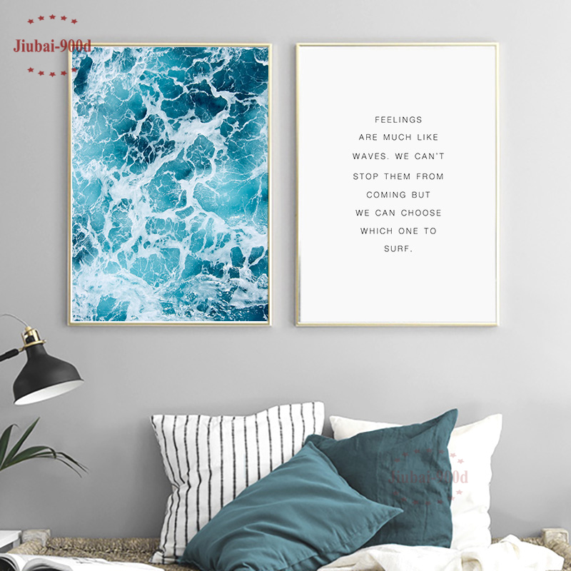 900D Posters And Prints Wall Art Canvas Painting Wall Pictures For Living Room Nordic Decoration Seascape NOR007 w365 elephants unframed art wall canvas prints for home decorations