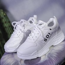 YeddaMavis Shoes White Daddy Women Sneakers Spring New Korean Wild Lace Up Womens Woman Trainers