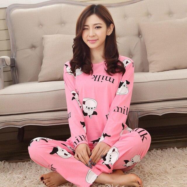 2017 pyjamas women Loungwear Pyjamas Full Sleeve Tops Onesie Pajamas Set Womens  Night Suit Sleepwear pajamas For Women ed635300a7