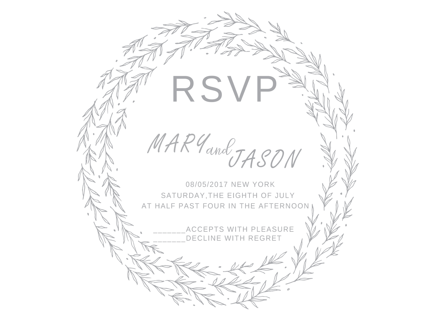 10Pcs Gary Coloful Wedding Little RSVP Cards Free Design Paper Print Party Small respond Cards Invitations Party Birthday
