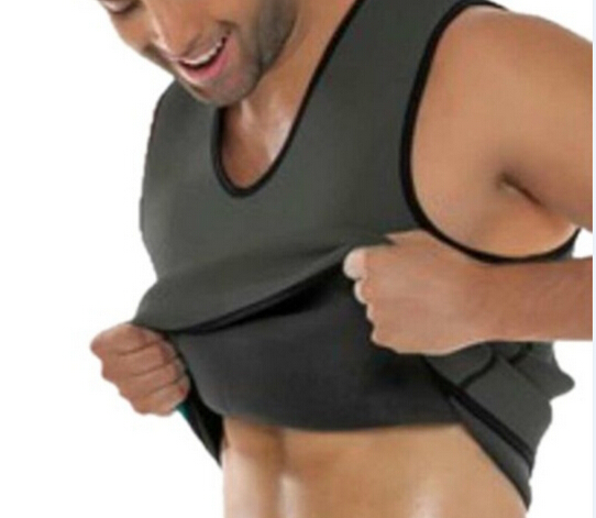 Black Neoprene Weight Loss Mens Body Shapers Vest Slimming Fitness Waist Tops Sweat Shapwear Shirts Hot Plus Size M-4XL 3