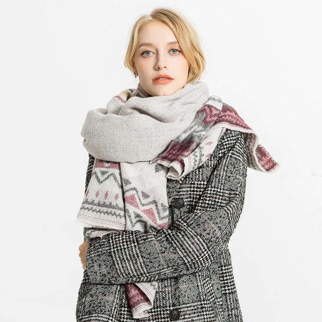 22f48c1b5 2018 Winter Scarf Women Cashmere Wool Scarves Shawls Soft Scarf for Women  Wool Pashmina Winter Warm Shawls Female Poncho Stoles