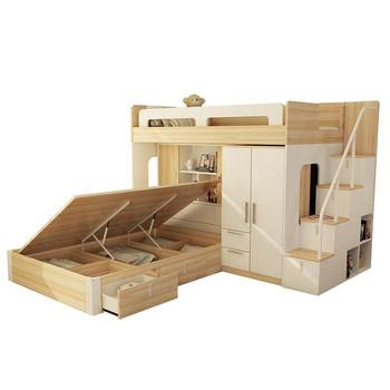 Ofertas especiales Matrimonio niños caja Tempat Tidur Tingkat Lit ...