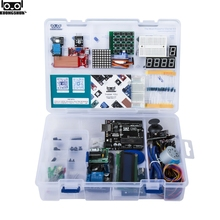 цена на NEW Electronic Components Junior Starter Kits With Resistor Breadboard Power Supply Module For Arduino With Plastic Box Package