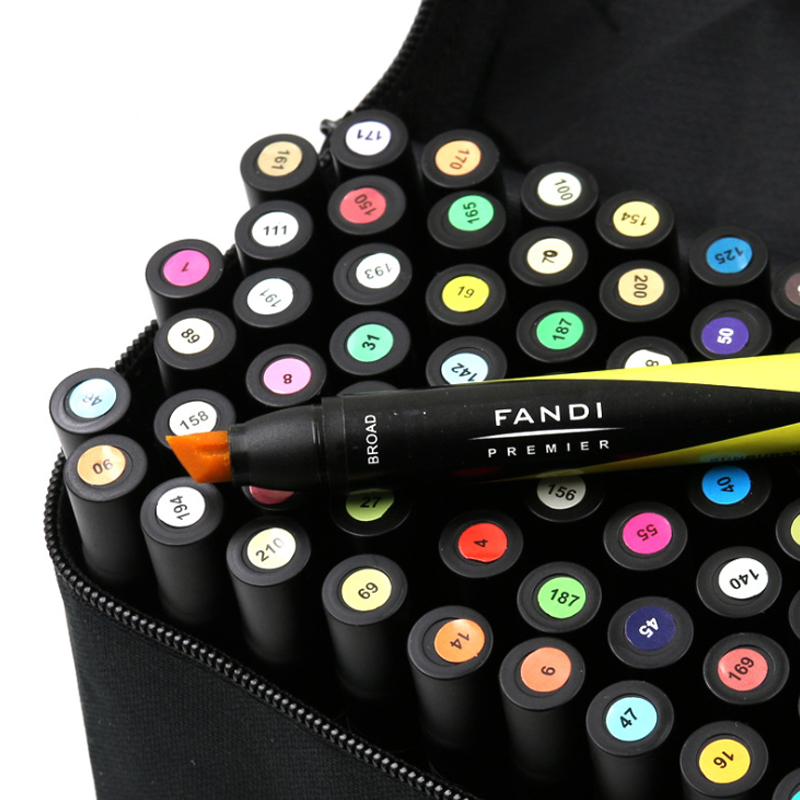 60 Colors Pen for Design Oily Double Head Art Markers Set Twin Tip Graphic Art Set Sketch Broad Fine Writing Supplies Gift60 Colors Pen for Design Oily Double Head Art Markers Set Twin Tip Graphic Art Set Sketch Broad Fine Writing Supplies Gift