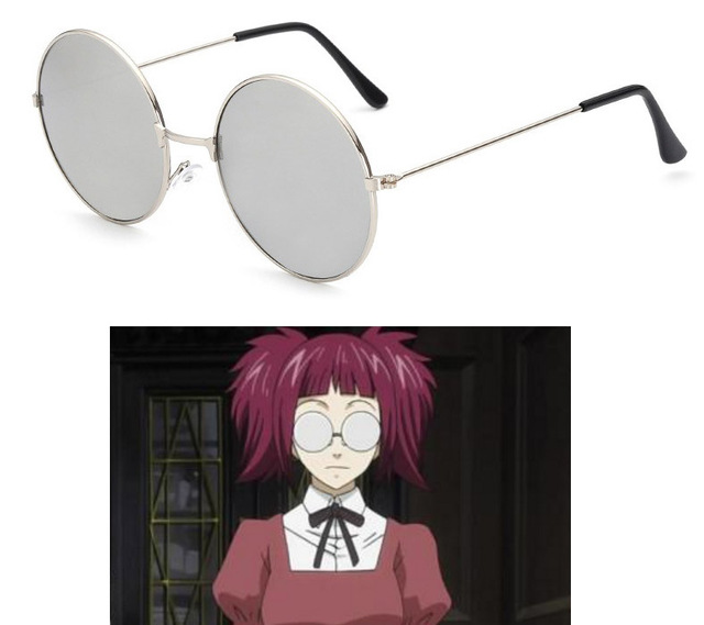 23c5272b17 Black Butler Mey Rin Glasses Cosplay Glasses Eyewear Cosplay Accessories