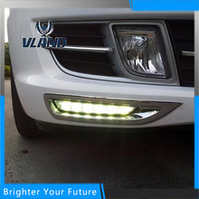 Car Accessories Waterproof Daytime Running Fog Light Lamp DRL Yellow Turn Signals For Mazda 6 2010-2013(China)