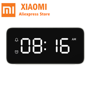 Image 2 - 샤오 미 xiaoai 스마트 음성 방송 알람 시계 abs 테이블 dersktop 시계 자동 시간 교정 작업 mi 홈 app