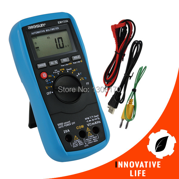Automotive Multimeter AC DC Voltage Current Capacitance Temperature Resistance Continuity Diode Duly Cycle Frequency Tester мультиметр multimeter 5818 ac dc w