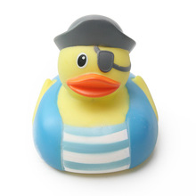 Baby cute toy creative pirate duck rubber bathing bath toys Water Toy