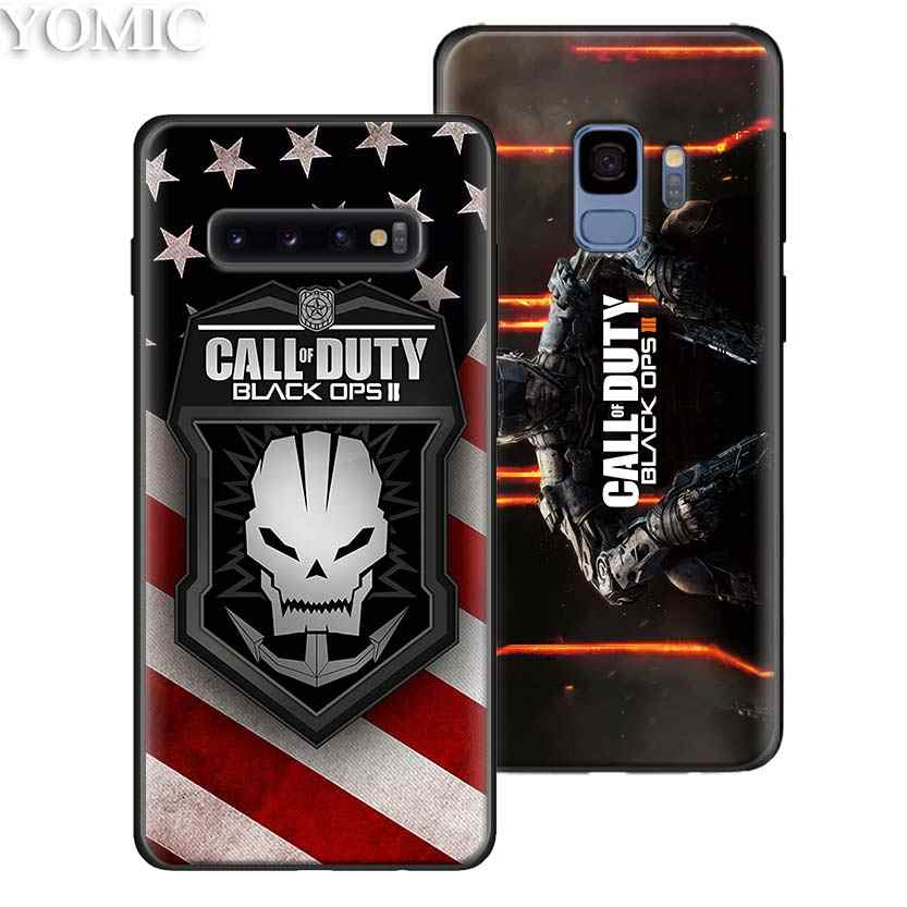 cool Call of Dutys Superheroes Black Soft Case for Samsung Galaxy S10 S9 S8 S10e Plus S7 A50 A70 Note 9 8 Silicone Cover Coque