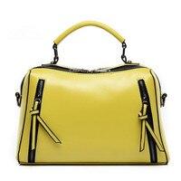 PROMOTION New 2014 Famous Designed Bags Handbags Women Retro Fashion Double Zipper LEATHER Shoulder Tote Bags