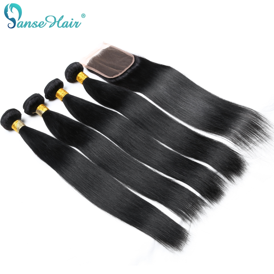 Panse Hair 4 Bundles Per Lot Indian Human Hair Products 4 Pcs Per Lot Human Hair Weaving Customized 8-28 Inches Mixed Length