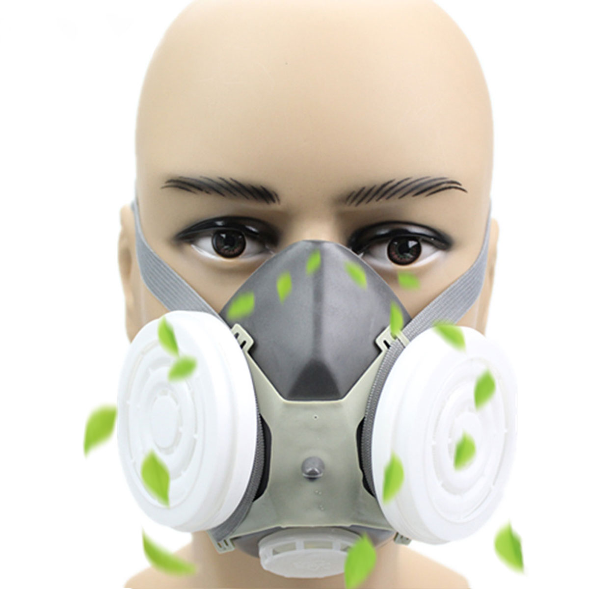 Industrial PM2.5 Anti Dust Mask Half Gas Mask Welding Smoke Paintting Face Mask Paint Spraying Breathing Safety
