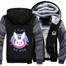 Heiße Beiläufige Marke Jacke OW D. Va Logo Hoodie Mode Mantel Reißverschluss Winter Fleece über und uhr Unisex Verdicken Sweatshirts