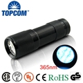 Professional 365 nM 9 UV LED Ultraviolet Mini Flashlight for Gemstone and Mineral Inspection