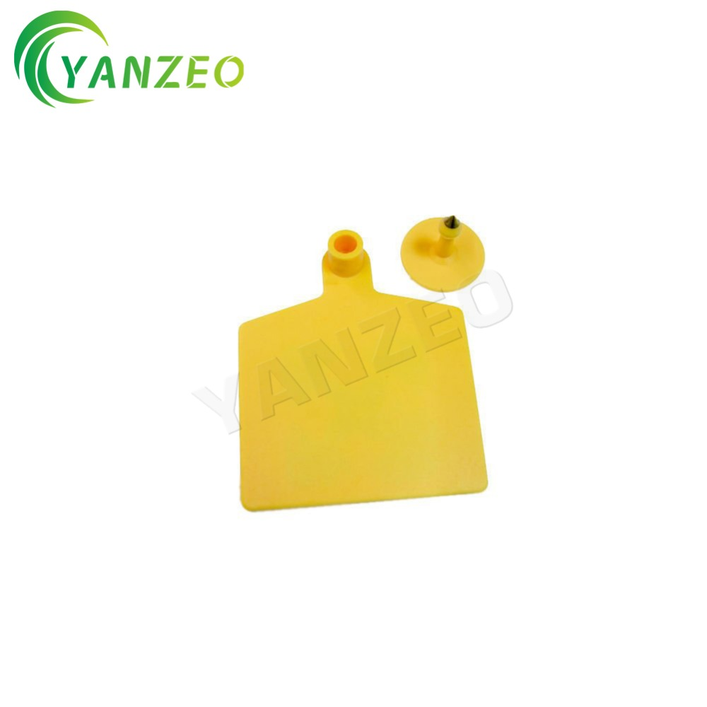 YANZEO 860~960MHz ISO 18000-6C UHF RFID Animal Ear Tags Cattle Sheep Camel Animal ID Management