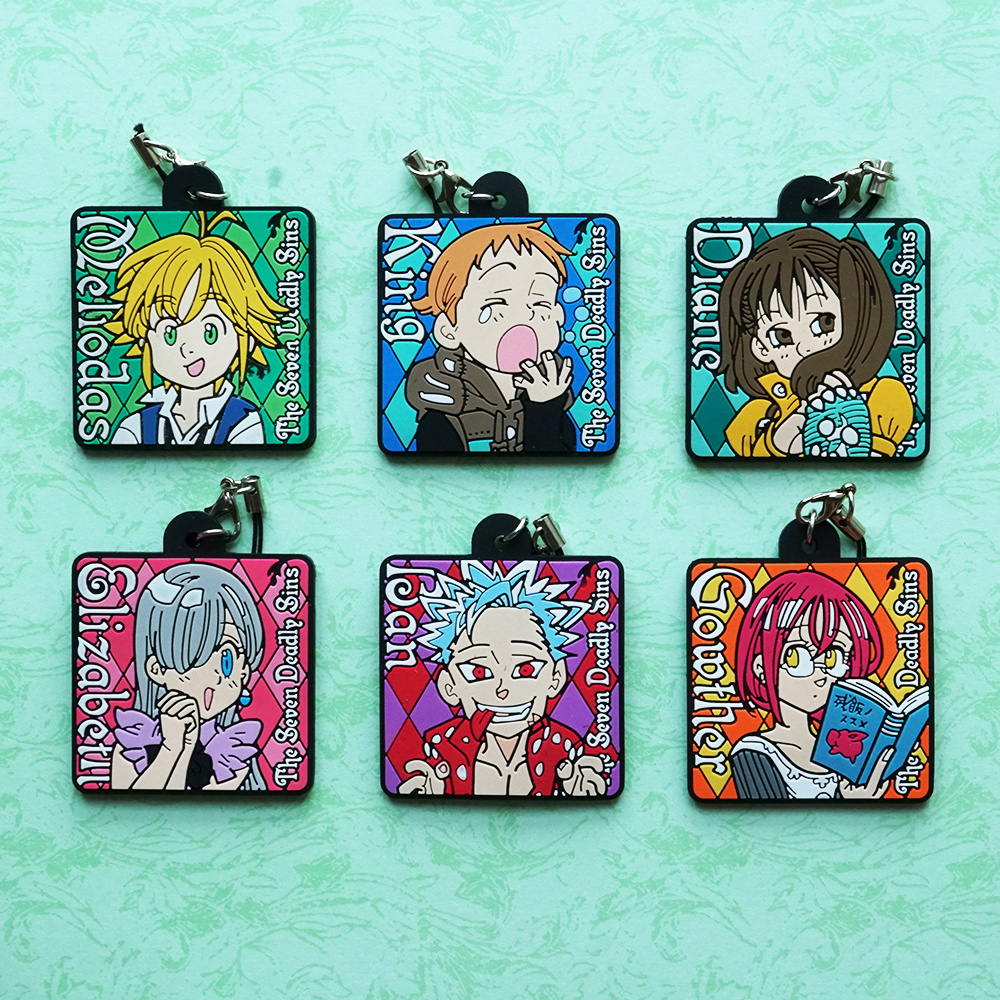 Meliodas King Elizabeth Diane Ban Gowther Anime The Seven Deadly Sins Nanatsu No Taizai Japanese Rubber Keychain for bmw r1200gs adventure lc 2014 2016 2015 one pair cnc motorcycle brake clutch levers short 10 colors aluminum alloy
